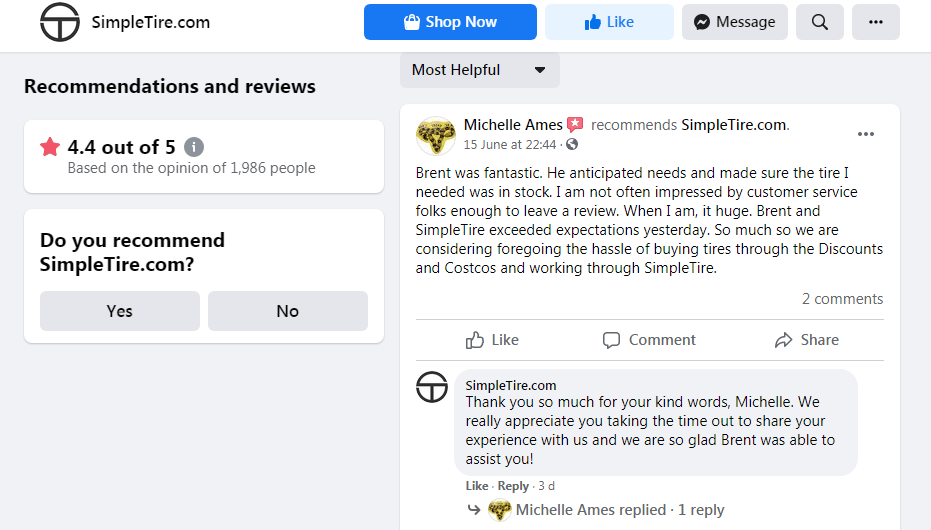 SimpleTire Reviews